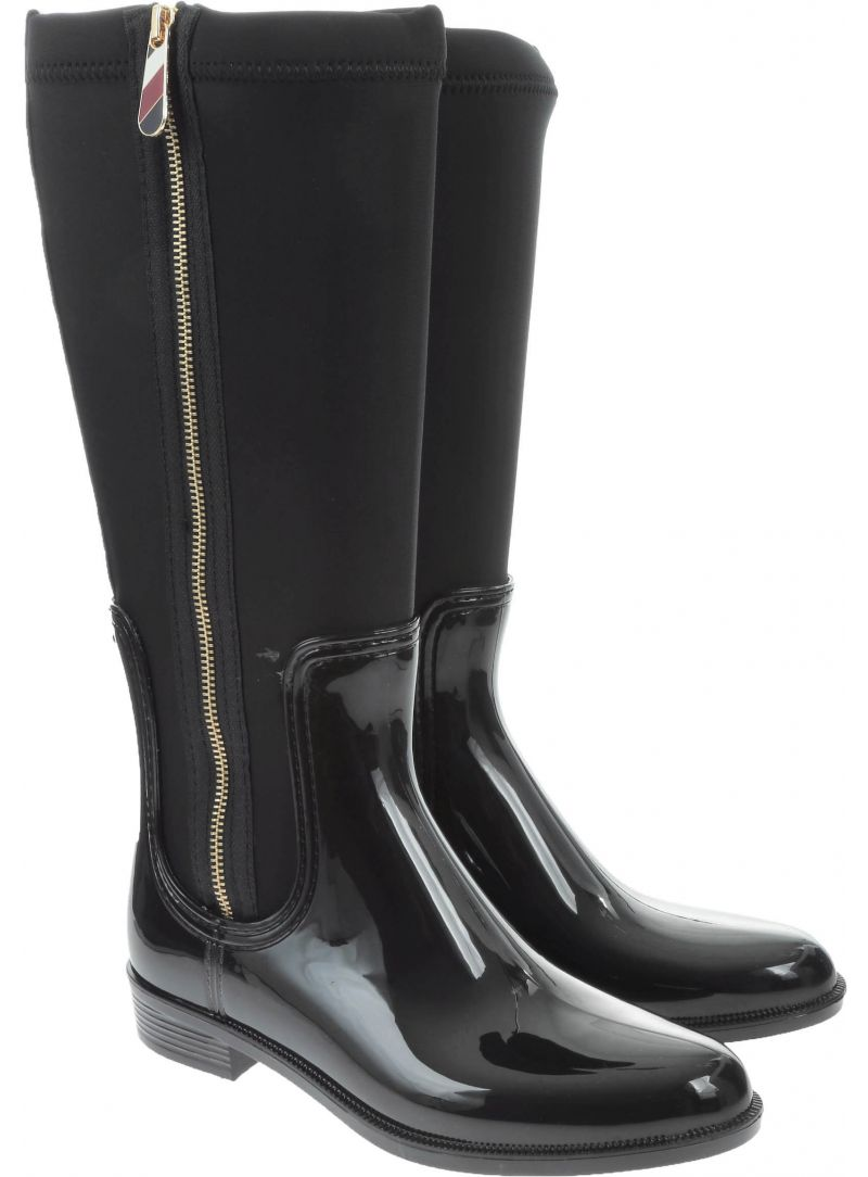 Stiefel TOMMY HILFIGER Material Mix Long