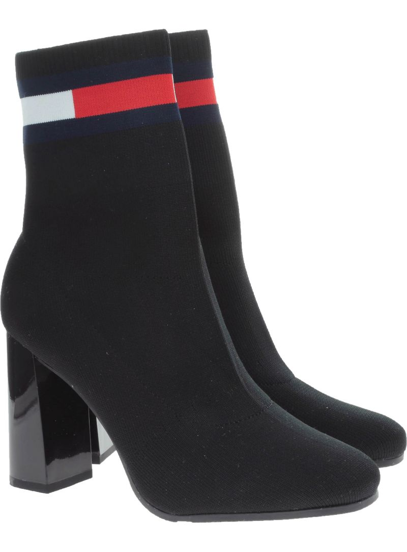 BOTKI TOMMY SOCK HEELED BOOT - Botki