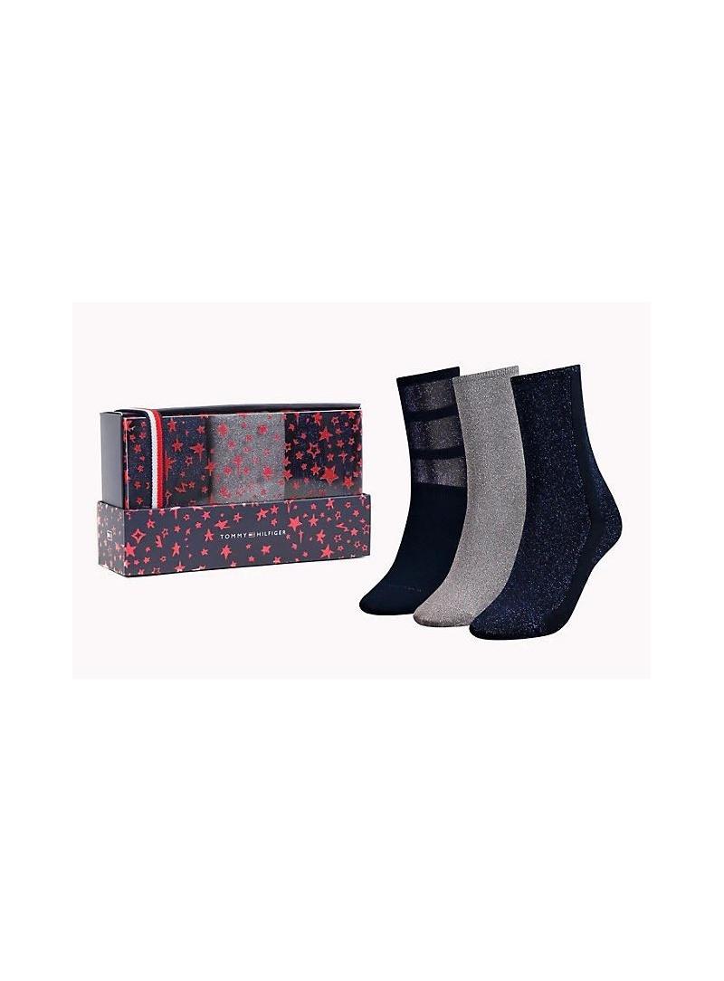 Ponožky TOMMY HILFIGER 483016001 563 (3-PAK)