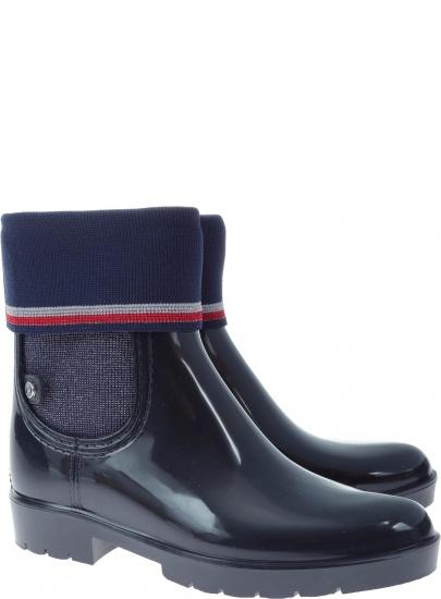 d5ddeff864748 Kalosze TOMMY HILFIGER Corporate Belt Rain FW0FW03329 403 | Buty ...