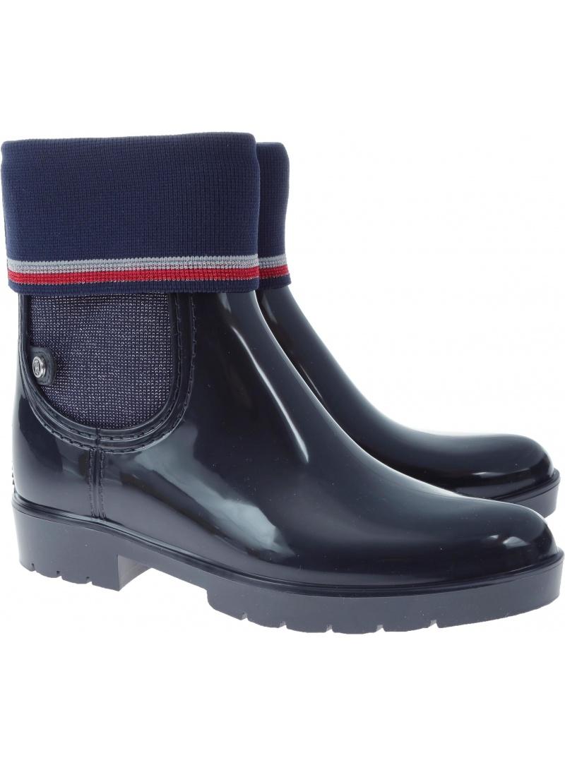 Kalosze TOMMY HILFIGER TOMMY Knitted Sock Rain - Kalosze