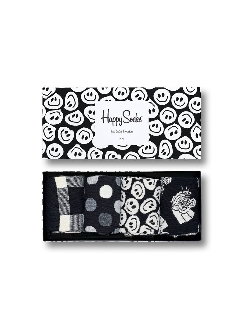 GIFT BOX SKARPET HAPPY SOCKS XBLW09-9003 (4-PAK) - Skarpety