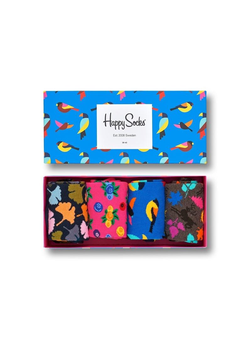 GIFT BOX SKARPET HAPPY SOCKS XFOR09-8000 (4-PAK) - Skarpety