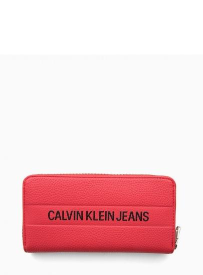 Czerwony Portfel CALVIN...
