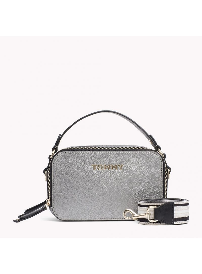 Srebrna Torebka TOMMY HILFIGER Cool TOMMY Mini Trunk AW0AW06543