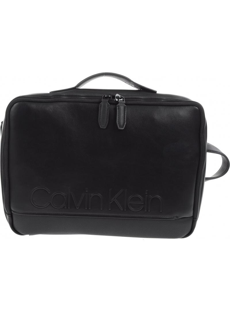 Czarny Plecak CALVIN KLEIN Elevated Logo Conv Backpack