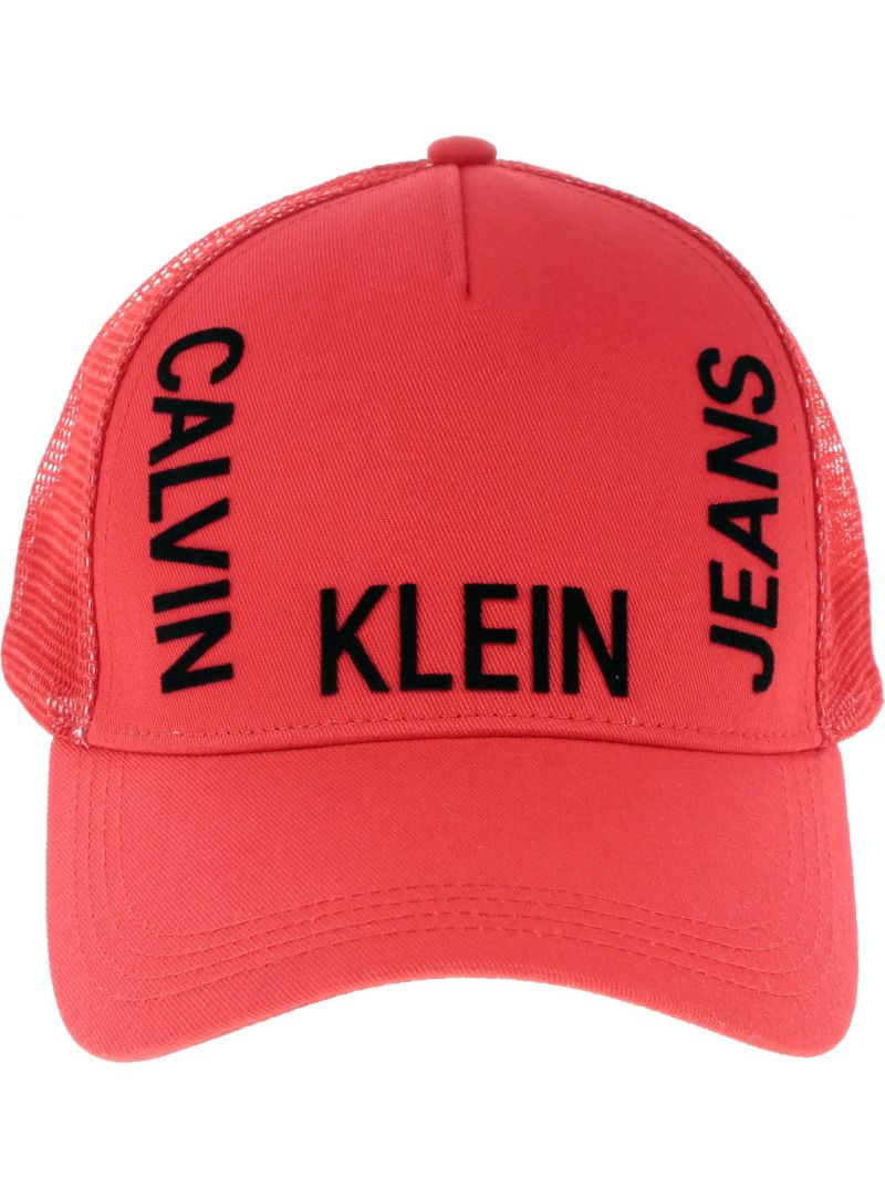 Czerwona Czapka CALVIN KLEIN J Trucker Meshcap K50K504321 634 -
