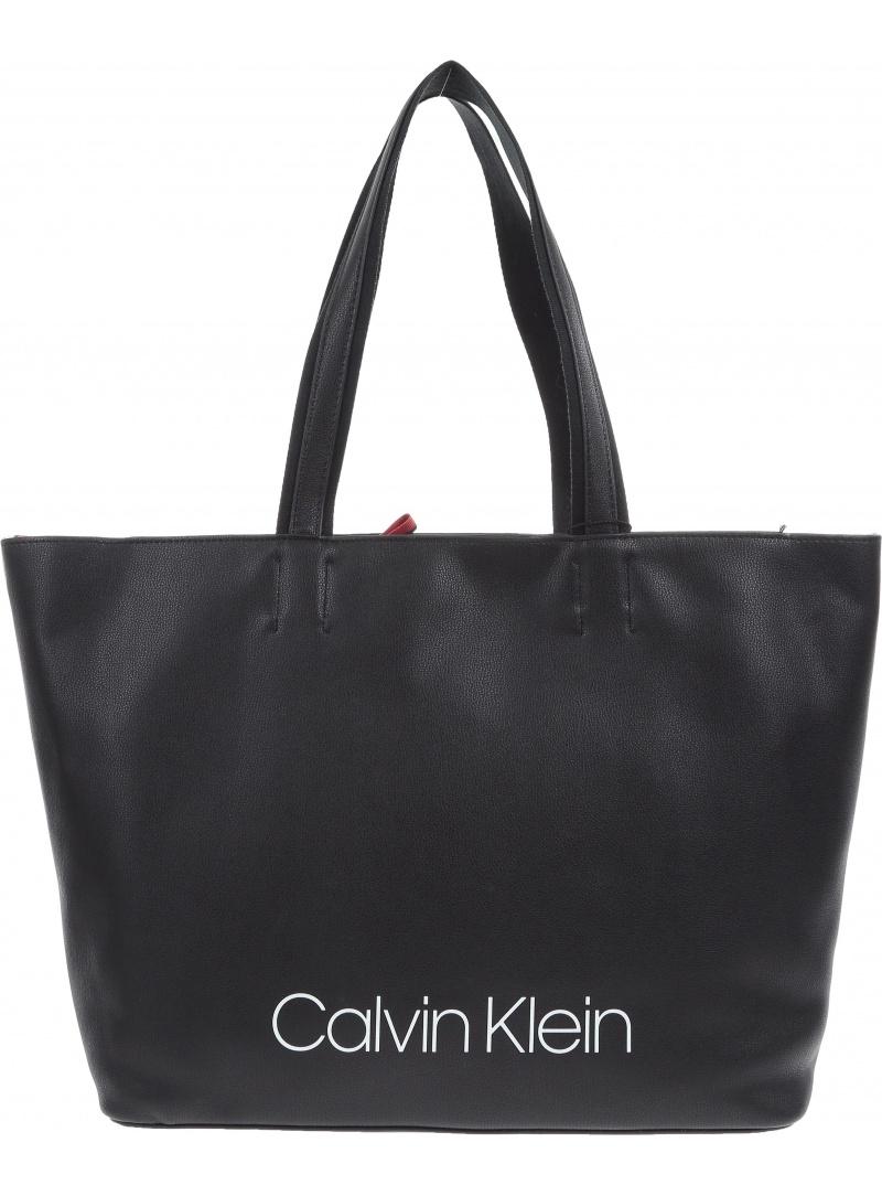 Czarna Torba CALVIN KLEIN JEANS Collegic Shopper K60K604457 001