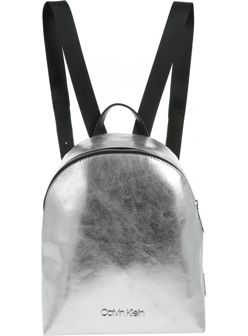 Srebrny Plecak CALVIN KLEIN Snap Sml Backpack K60K604926 067 -