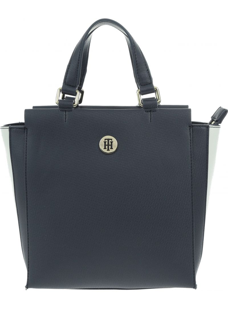 Hüte TOMMY HILFIGER Effortless Saffiano Satchel AW0AW06117 901