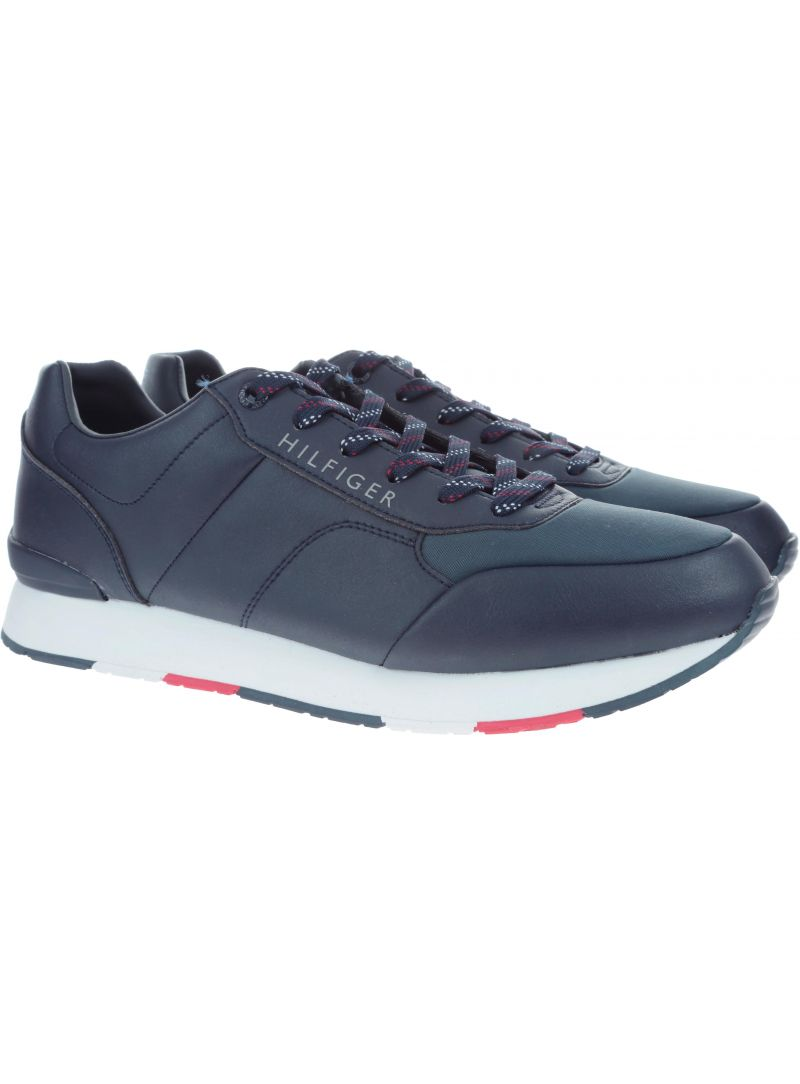 Granatowe Półbuty Tommy Hilfiger CORPORATE LEATHER RU MIDNIGHT