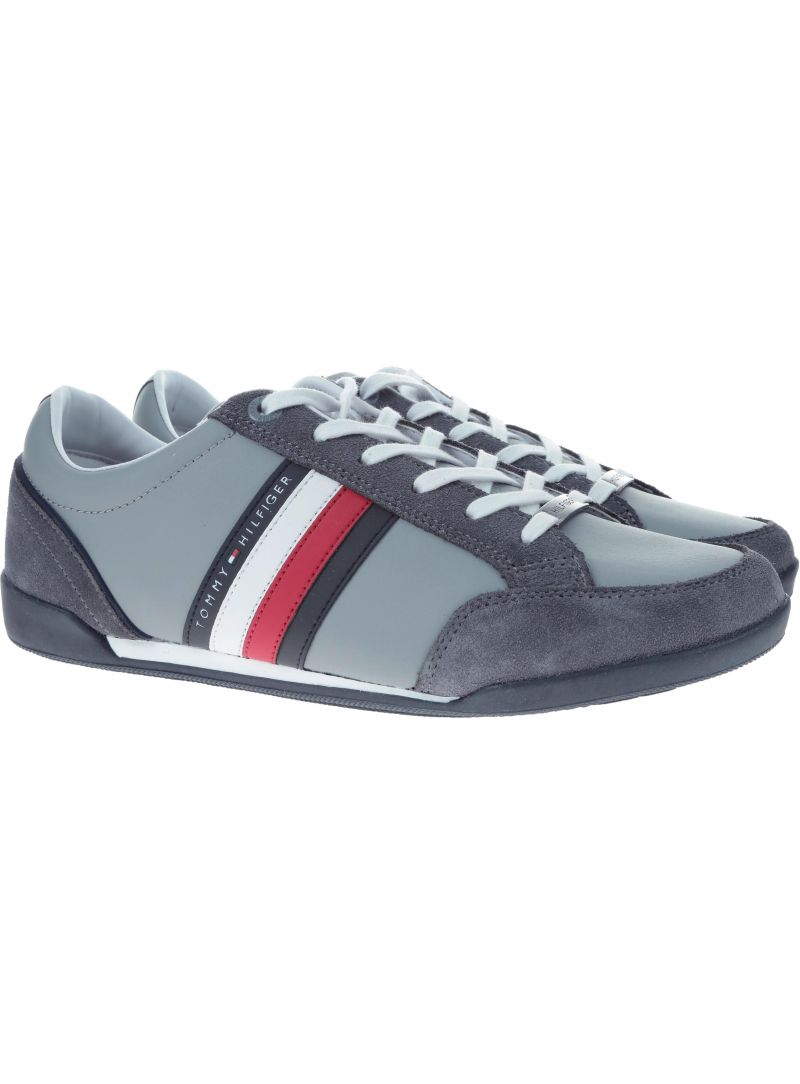 Półbuty Tommy Hilfiger CORPORATE MATERIAL M STEEL GREY - Półbuty