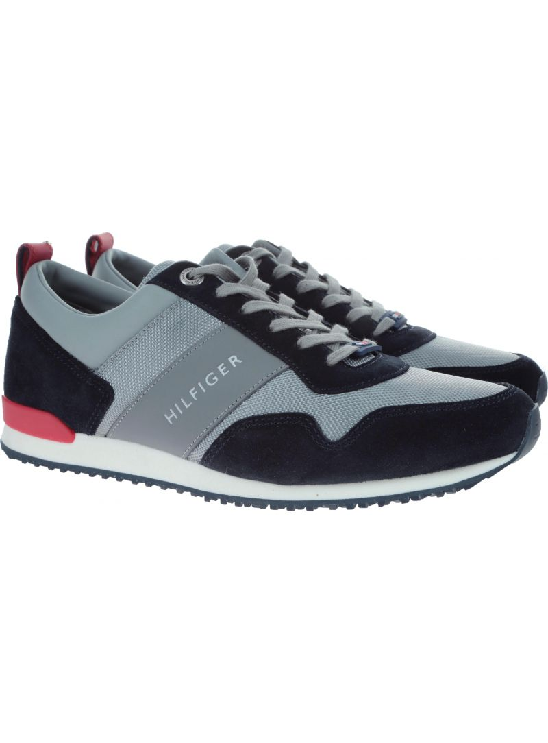 Półbuty Tommy Hilfiger ICONIC MATERIAL MIX MIDNIGHT-LIGHT
