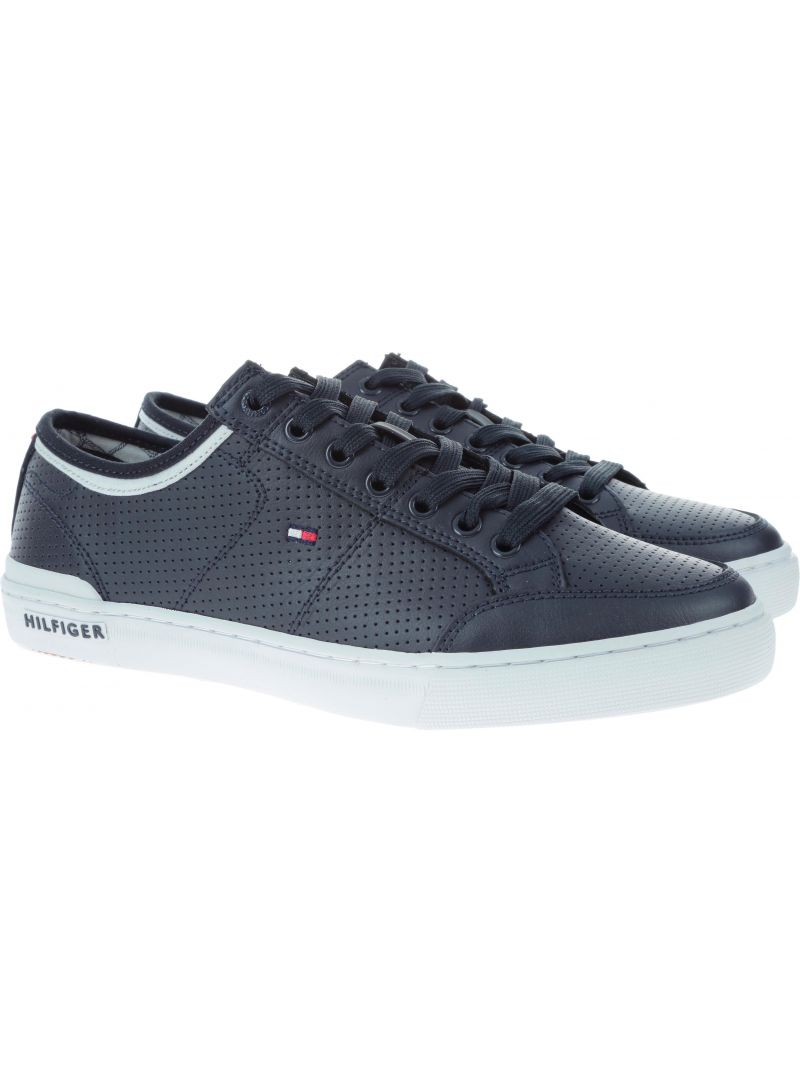 Trampki Tommy Hilfiger CORE CORPORATE LEATH MIDNIGHT - Półbuty