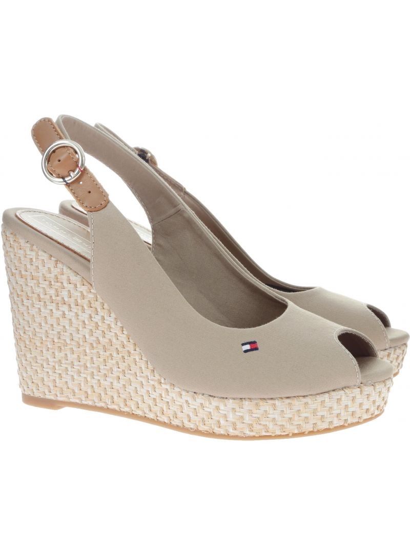 167f8a7ce Wedges TOMMY HILFIGER Iconic Elena Basic S Cobblestone FW0FW04082 068