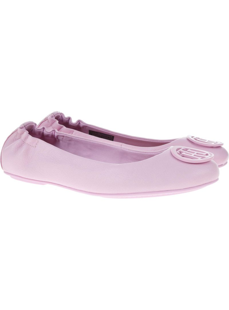 Ballerina flat TOMMY HILFIGER FLEXIBLE LEATHER BAL Pink