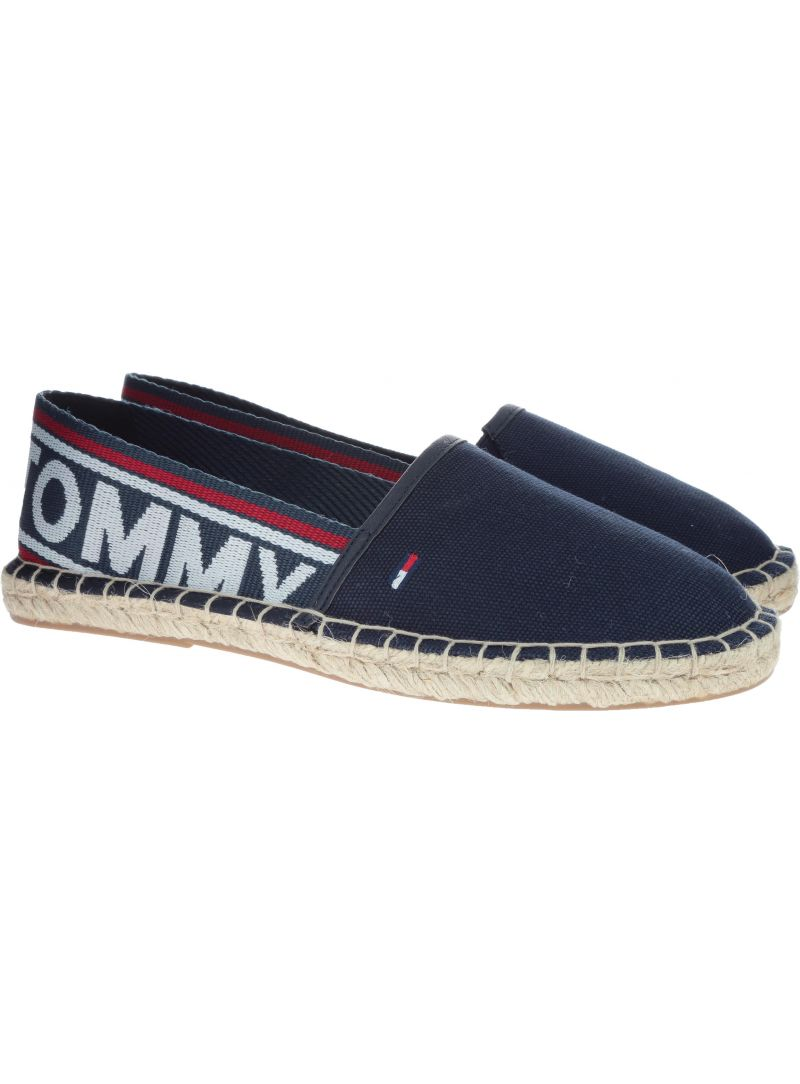 Espadryle Tommy Hilfiger POP WEBBING ESPDRILL MIDNIGHT -