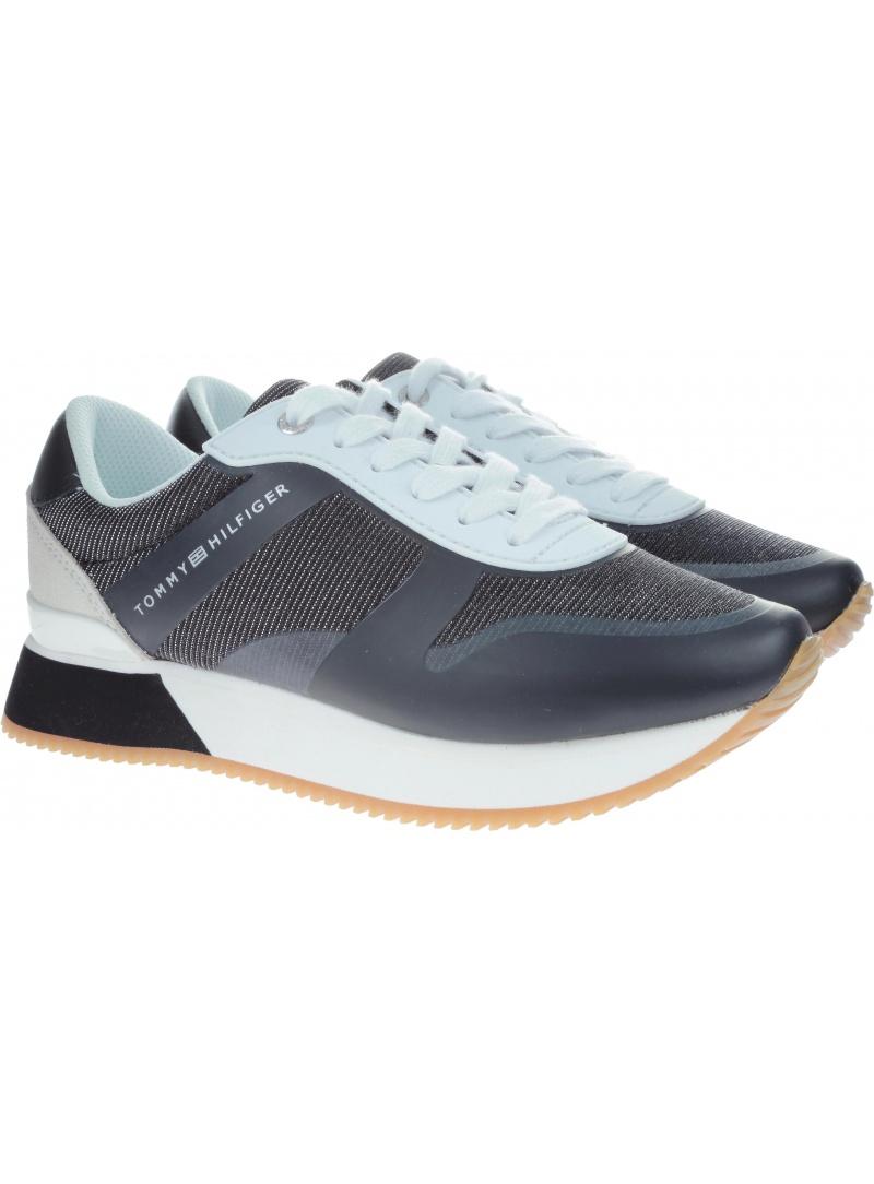 d604d8b5e2ca7 Trainers TOMMY HILFIGER Glitter City Sneaker Black FW0FW03772 990 ...