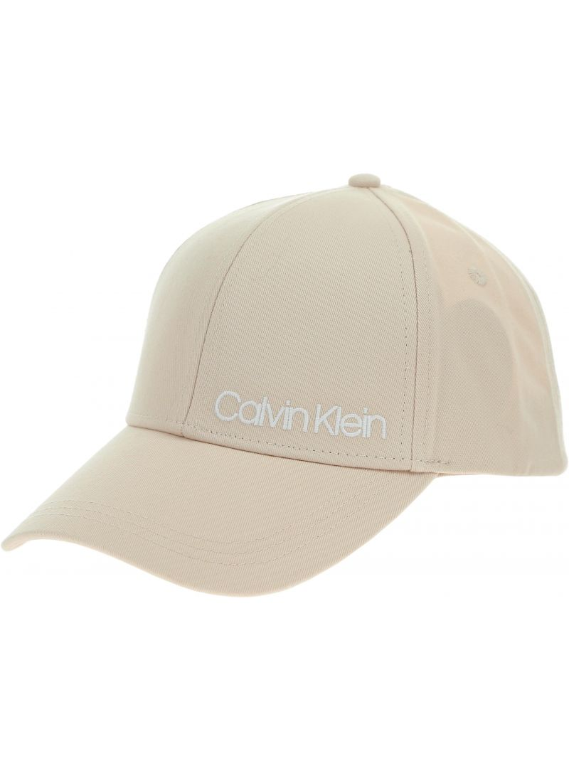 BEŻOWA CZAPKA CALVIN KLEIN SIDE LOGO CAP K60K605170 064 - ONA