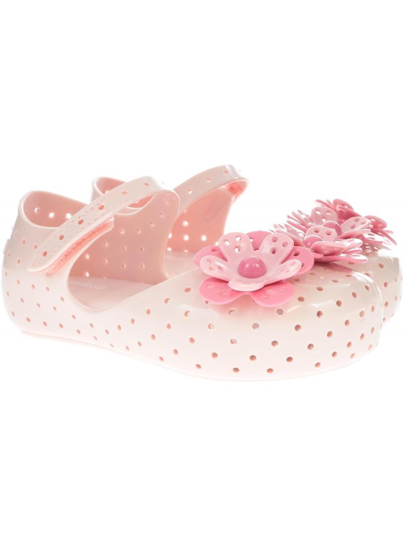 Różowe Balerinki Mini Melissa Furadinha 32441 51419 - Baleriny