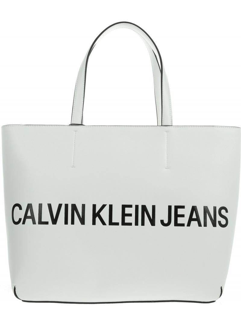 Biała Torba CALVIN KLEIN JEANS Sculpted Logo K60K605246 102 -