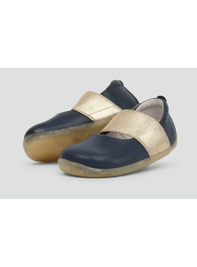 Granatowe Balerinki BOBUX 728801Demi Ballet Shoe Navy - Baleriny