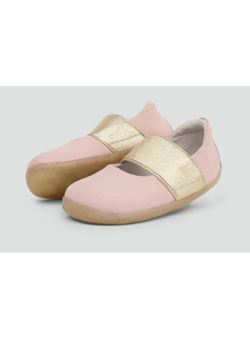 Różowe Balerinki BOBUX 728803 Demi Ballet Shoe Blush Shimmer -