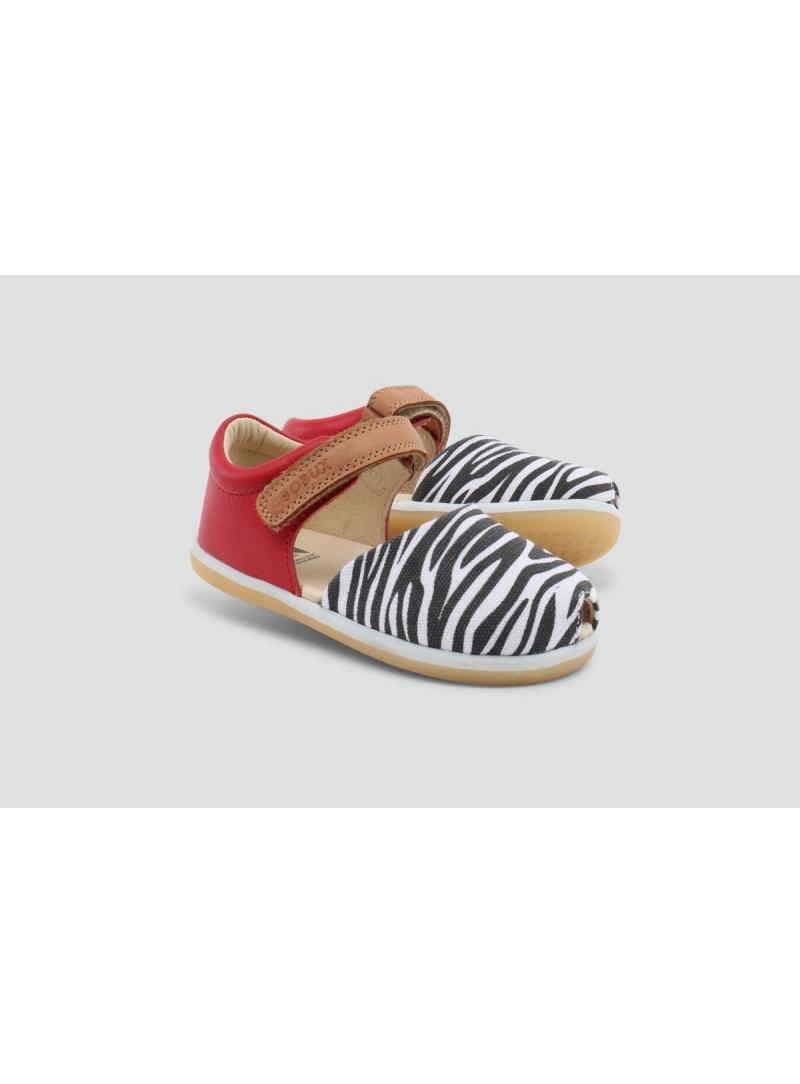 Zabudowane Sandały BOBUX 627804 Classic Twist Pompei-Zebra -