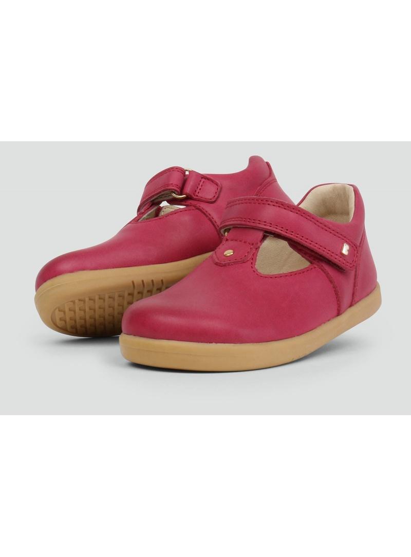 Różowe Balerinki BOBUX 633004 LOUISE T.BAR Pink - Baleriny