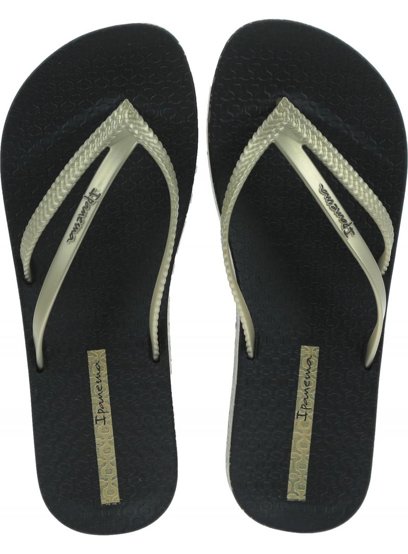Czarne Japonki IPANEMA Bossa Soft III Fe Black/Gold - Japonki
