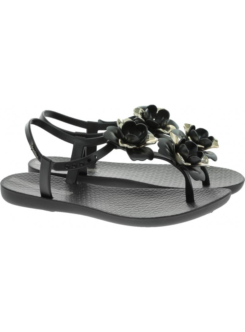 Czarne SANDAŁY IPANEMA Floral Sandal Fem 82662 20903 Black/