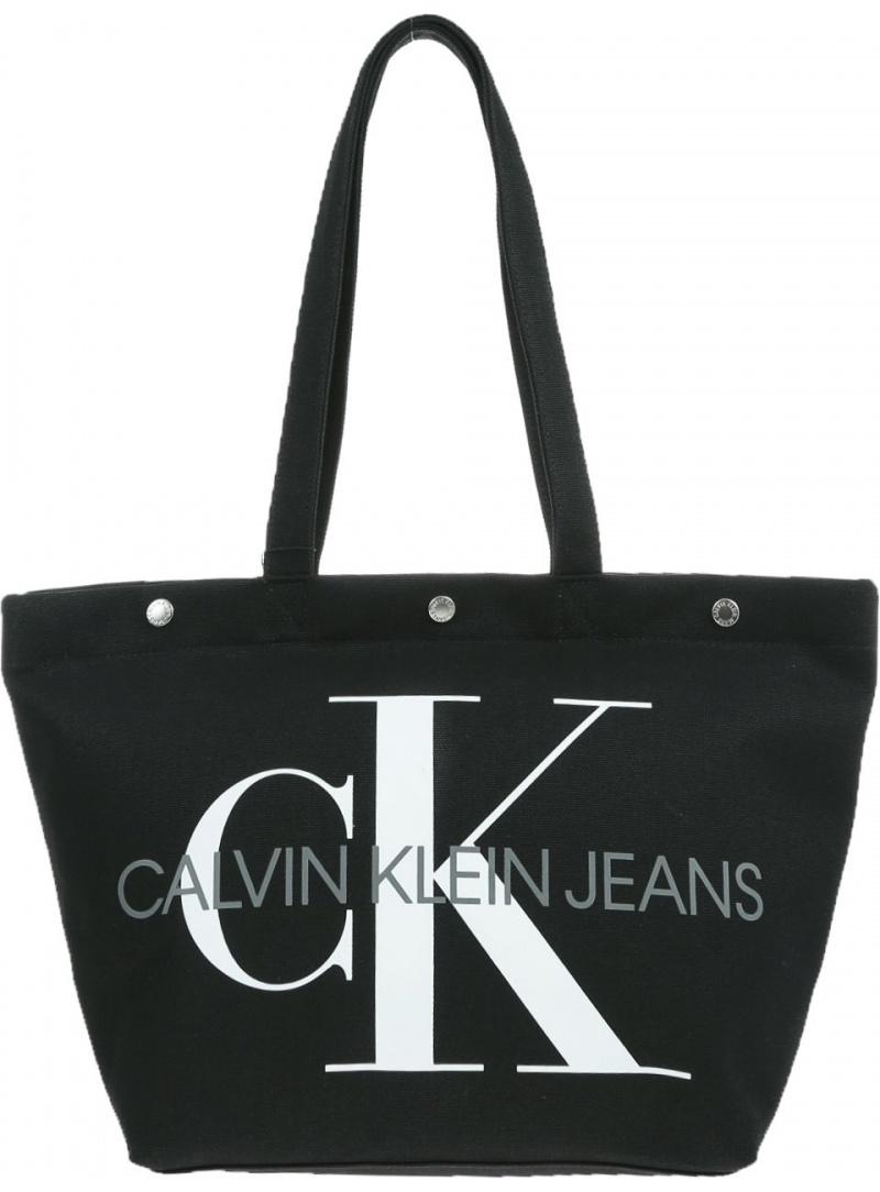 Czarna Torba CALVIN KLEIN JEANS CANVAS K60K605310 001 - Na ramię