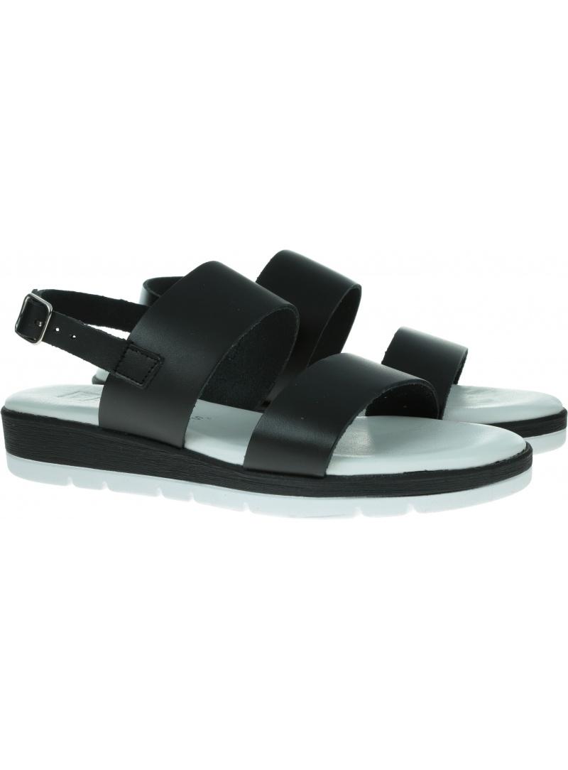 Czarne Sandały na klinie PITILLOS 5681 NEGRO - Sandały