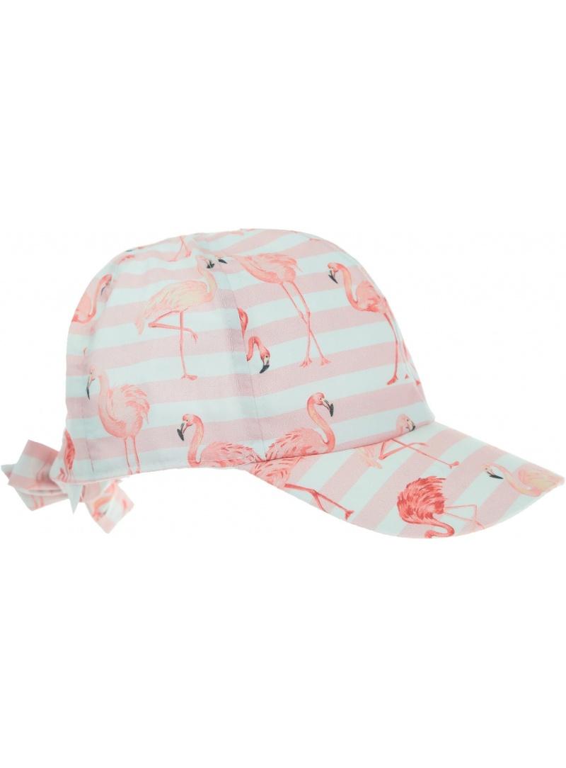 Różowa CZAPKA Z DASZKIEM z flamingami MAXIMO 93509-646100 -