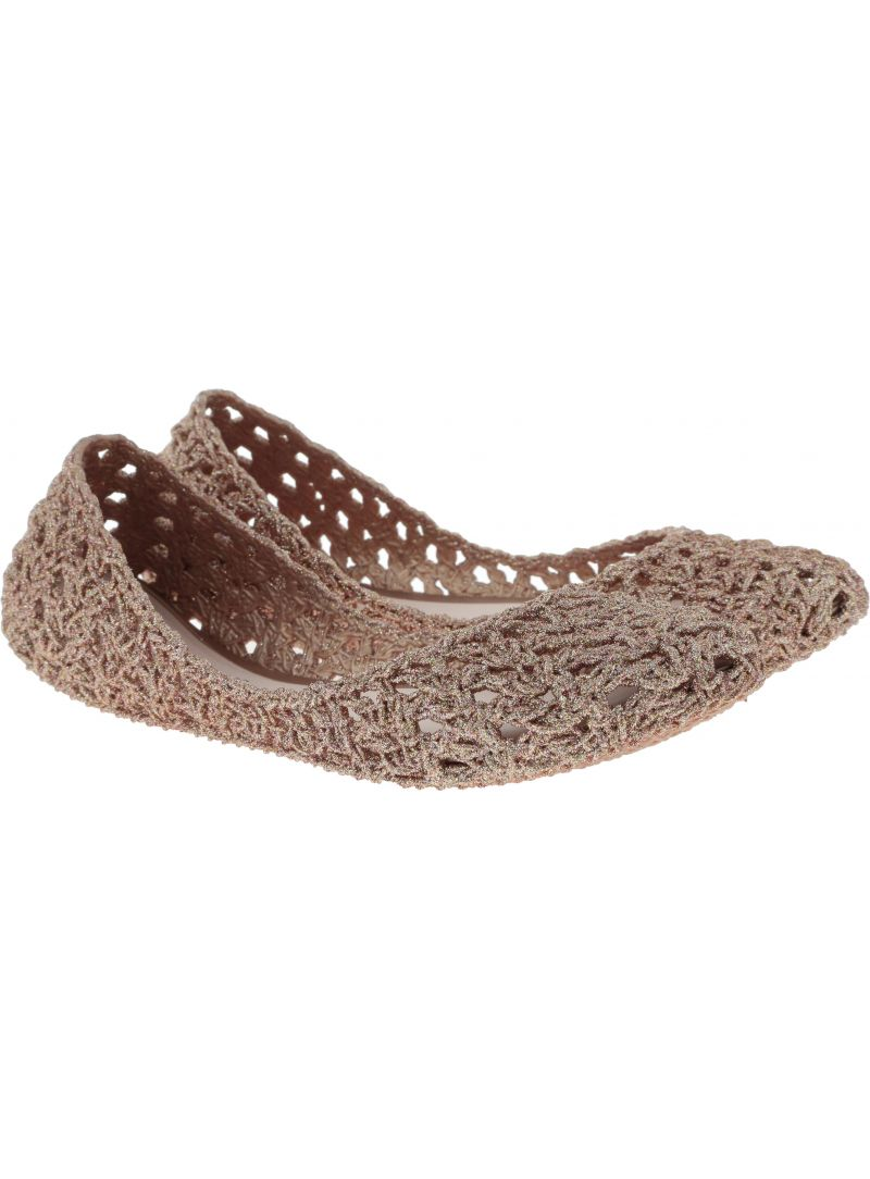 Różowe Balerinki MELISSA Campana Crochet 32246 51801 - Baleriny