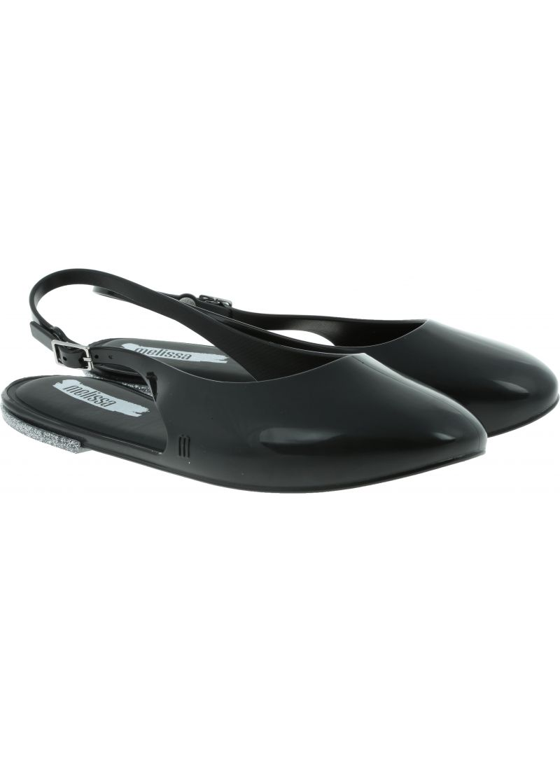 Czarne Sandały Baleriny MELISSA Lipstick 32560 52324 - Sandały