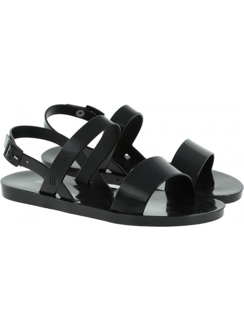 Czarne Sandały MELISSA Lip 32573 01003 - Sandały
