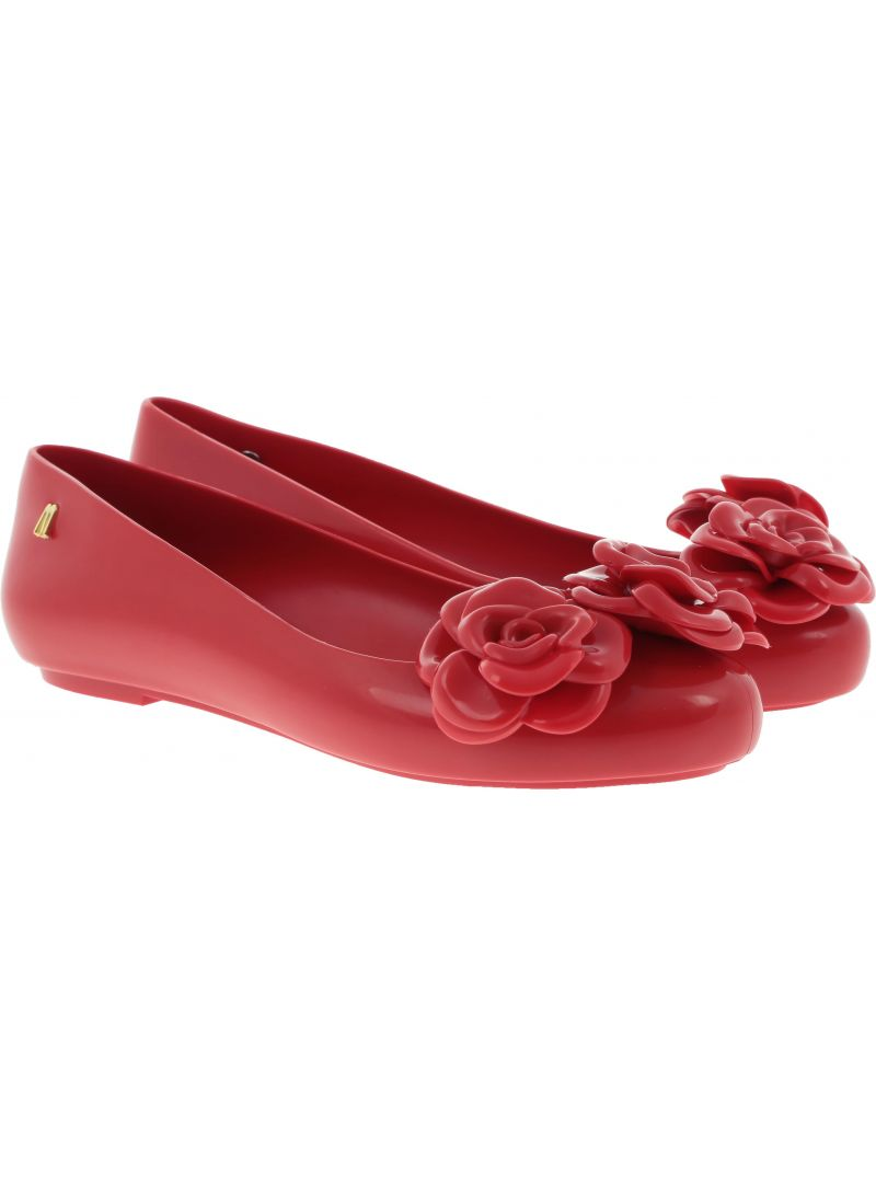 Czerwone Baleriny MELISSA Space Love Flower 32665 01591 -