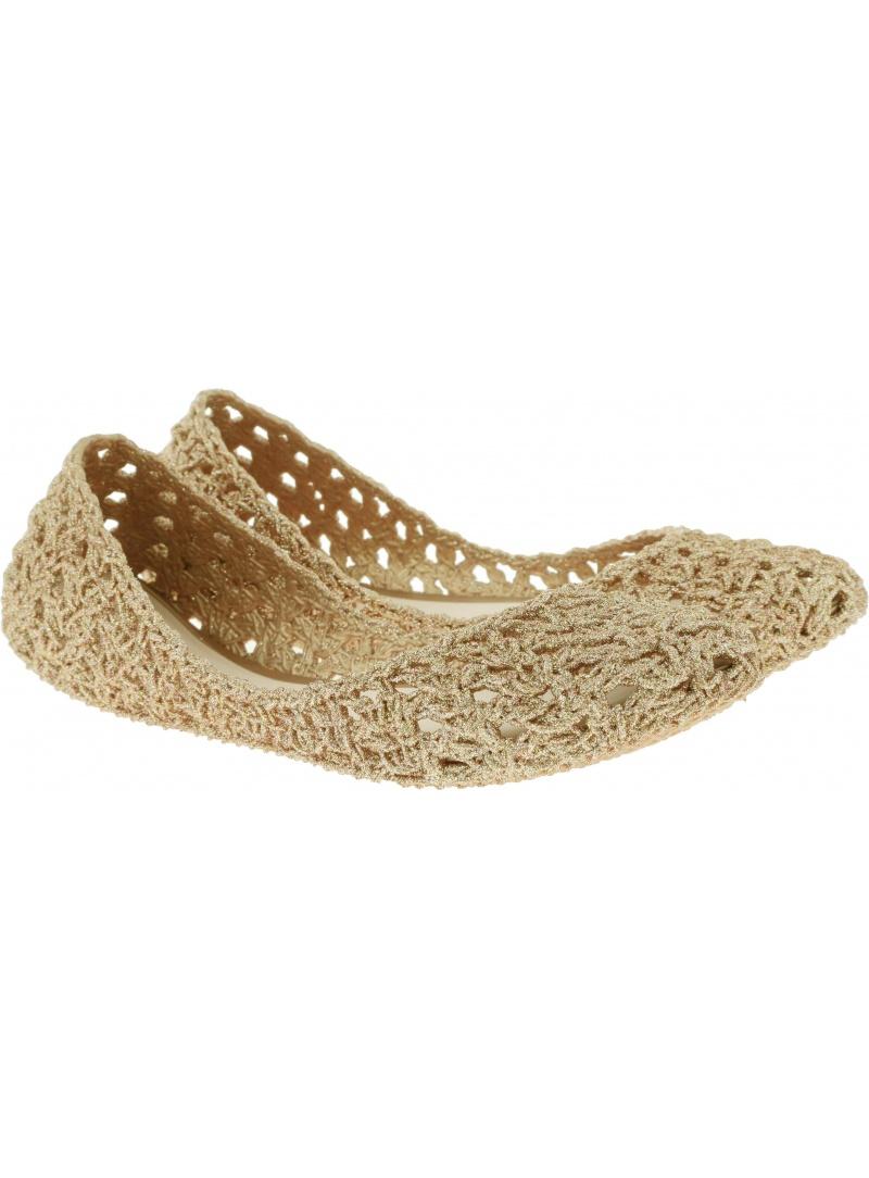 Złote Balerinki MELISSA Campana Crochet 32246 51800 - Baleriny