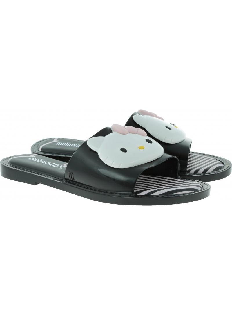 Czarne Klapki MELISSA Slipper Hello Kitty 32616 51492 - Klapki