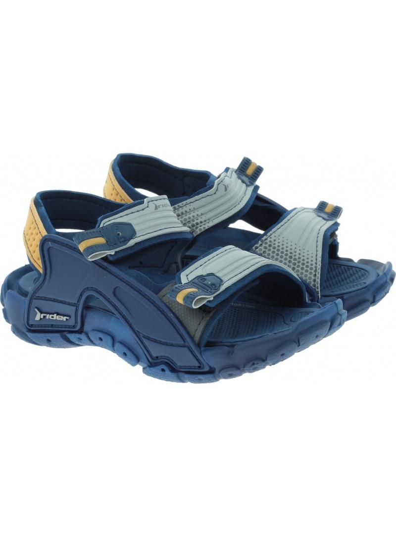 Granatowe SANDAŁKI RIDER Tender X Kids 82575 21393 - Sandały