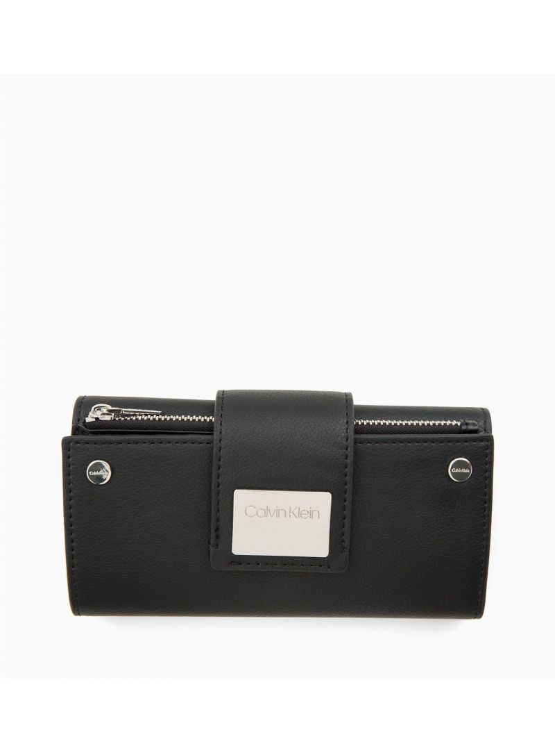 Czarny Portfel CALVIN KLEIN CK Lock LRG Trifold K60K605099 001