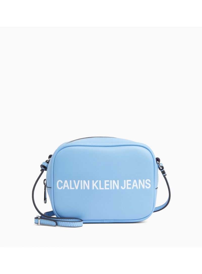Niebieska Torebka CALVIN KLEIN Sculpted Logo Camera Bag
