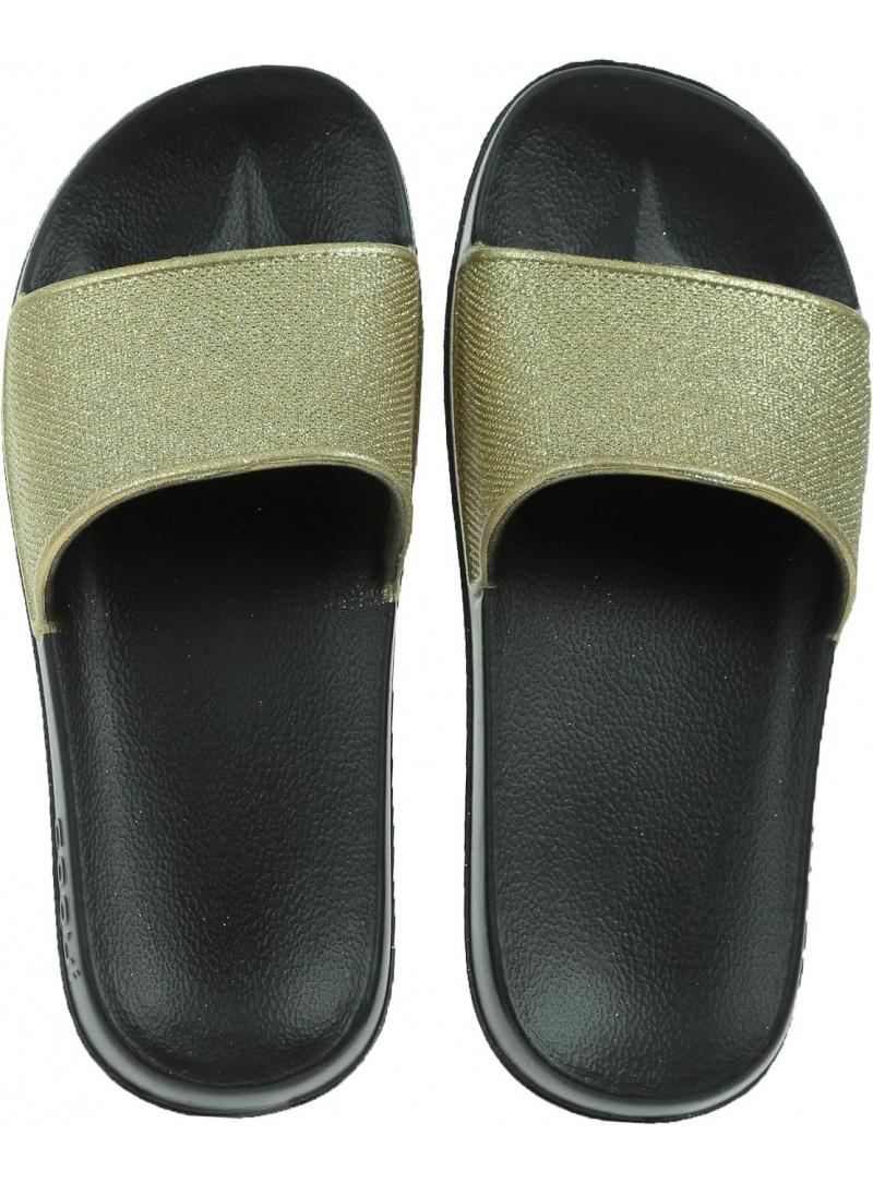 Klapki COQUI Tora 7082 Black/Gold Glitter - Klapki