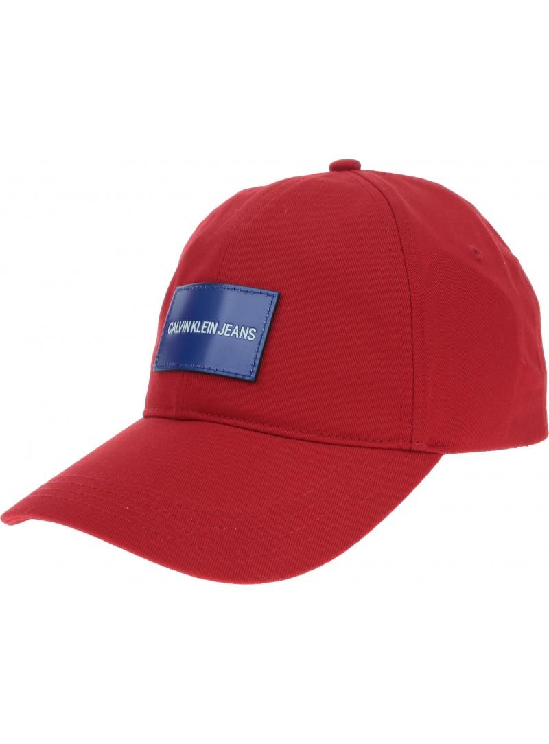 Czerwona CZAPKA CALVIN KLEIN Jeans Cap K50K504562 638 - Czapki