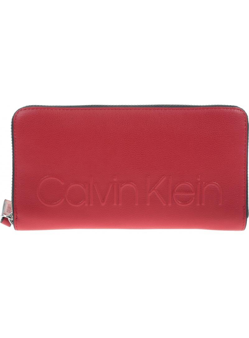 Czerwony Portfel CALVIN KLEIN Enged Large K60K605090 635 -
