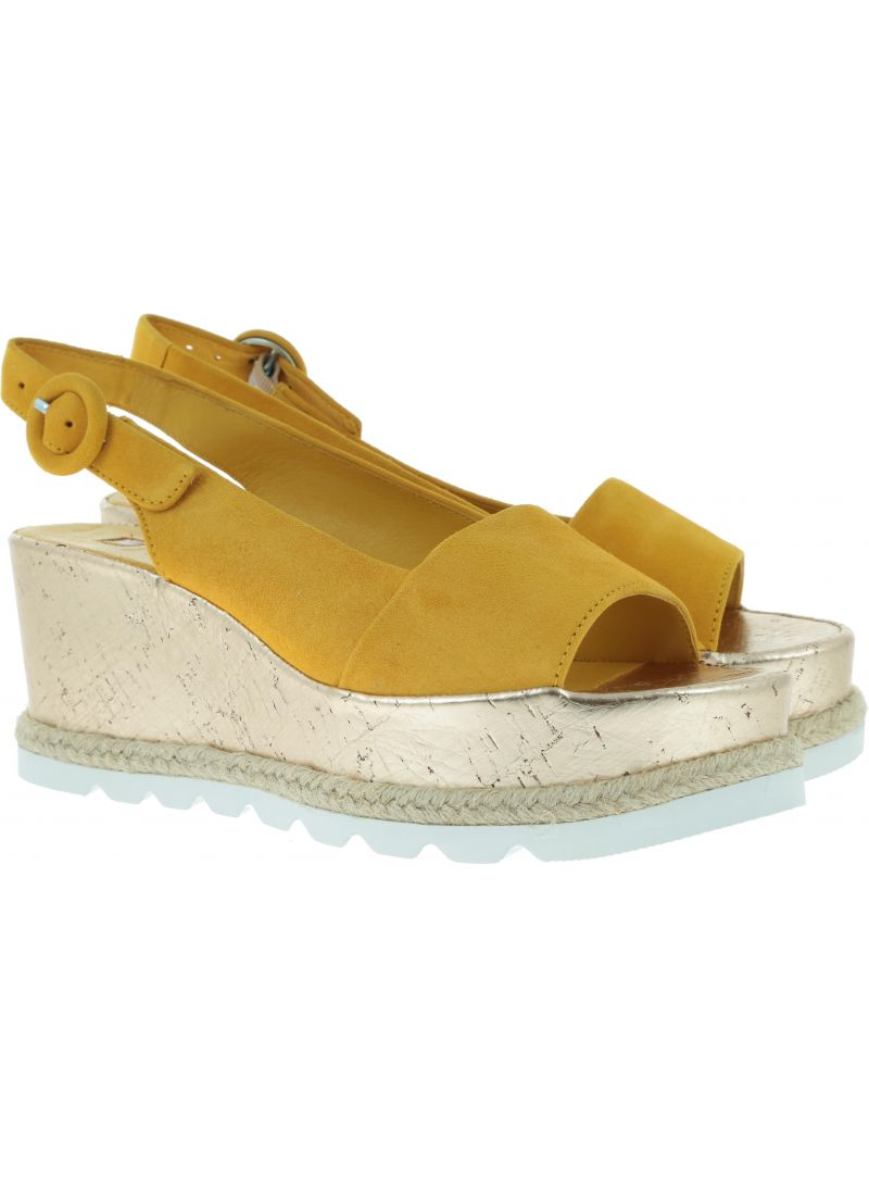 Żółte Sandały HOGL 7-10 3242 yellow - Koturny