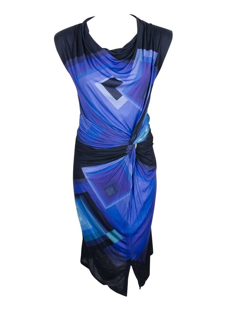 Letnia Sukienka DESIGUAL SLEEVELESS MEDIEVAL BLUE - Sukienki
