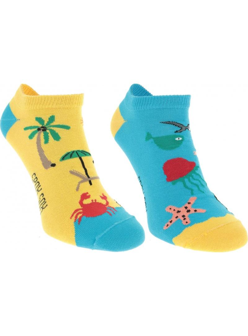 Kolorowe skarpetki Spox Sox Stopki Plaża i Morze