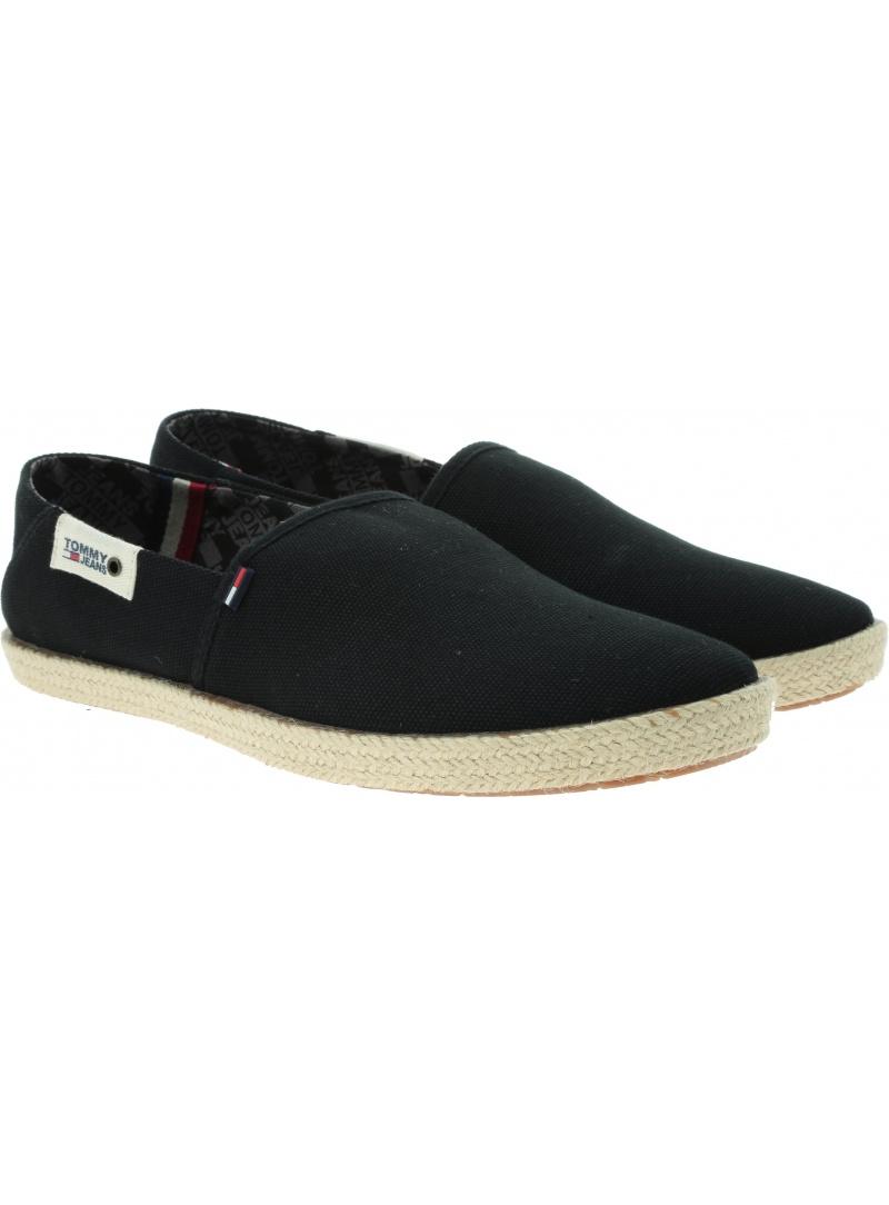 Czarne Espadryle Męskie Tommy Hilfiger Jeans Summer Shoe EM0EM00279 990